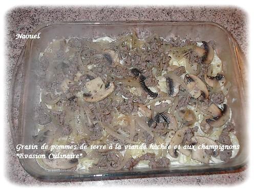 Gratin de pommes de terre la viande hach e et aux champignons - Pomme de terre au four papier alu ...