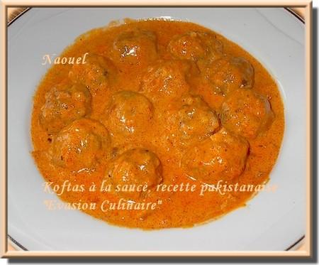 Bien connu Koftas en sauce (recette pakistanaise) IB59