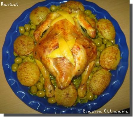 Poulet Roti Aux Olives A La Marocaine Et Ses Pommes De Terre Fondantes