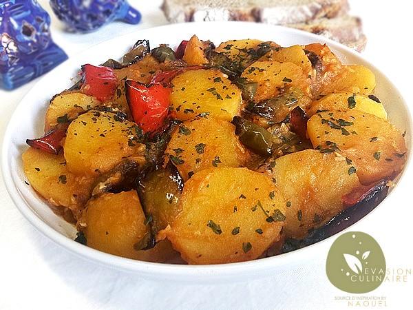 Pommes de terre et poivrons grill s - Pomme de terre grille a la poele ...