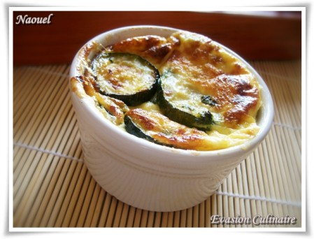 gratin courgette individuel