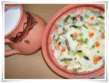 couscous kabyle aux legumes vapeur