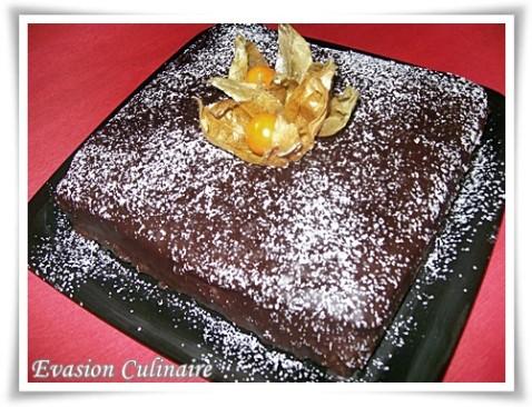 Gateau fondant au chocolat avec 2 oeufs
