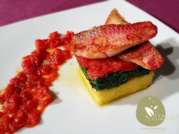 rouget-polenta