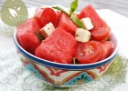 Salade de pasteque feta et menthe