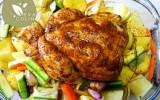 Poulet vapeur et ses legumes