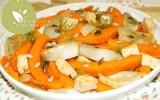 Tofu potimarron et fenouil