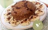 Bowl cake avoine, banane et chocolat